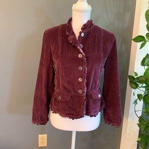 J.Jill Purple Corduroy Blazer/Jacket~Size MP
